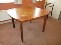 G PLAN vintage extending oval dining table
