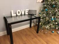 Glass dining table / drinks serving table