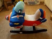 Baby/toddler rocking plane