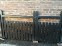 Solid wooden drive gates