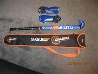 Grays Revo Junior Hockey Stick, Case and Shin Pads