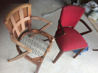 Retro Chairs Upcycle Upholstery Project -10 available- Vintage design, Wooden construction