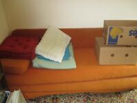 OLDER TYPE DOUBLE SOFA BED