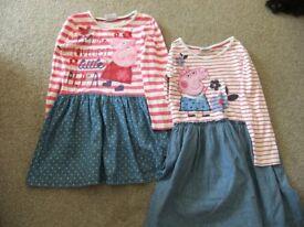 Peppa pig dresses age 5-6 years.