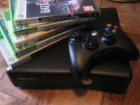 XBOX 360 SLIM 4GB + GAMES