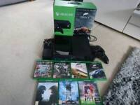 Xbox one 500GB with 8 Games