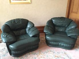2 very comfortable leather chairs