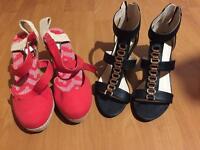 Ladies sandals size 6. Brand new 2 pairs