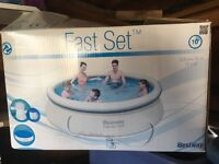 10 Ft. Easy Set Swimming Pool with filter & ground tarpaulin