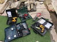 Dewalt tools 18v drill sds bosch sabre saw joblot