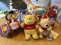 Disney etc collectable soft toys