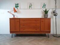 Meredew Vintage Danish Design Compact Mid Century Medium Teak Retro Sideboard #454