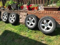"Genuine BMW X5 18"" Alloy Wheels Alloys And Tyres Vw Transporter T5 T6 8.5J 5x120"