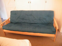TEAL DOUBLE FUTON / SOFA BED
