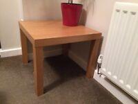 Modern Oak style lamp table