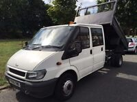 2005 FORD TRANSIT TIPPER.BRILLIANT DRIVE.CENTRAL LOCKING. BRAND NEW MOT.RECENTLY SERVICED.NO VAT