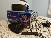 Playstation 4 VR console + motion camera for sale hardly used looks brand new