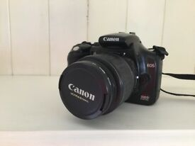CanonEOS 300D digital camera black limited edition with EF 18-55 mm lens