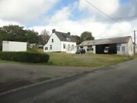 DETACHED HOUSE AND LARGE WORKSHOP NOT OVER LOOKED IN FRANCE BRITANY