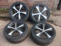 "bmw 18"" alloys with tyres e46 e87 e90 z4 Z3 3 series 1 series"