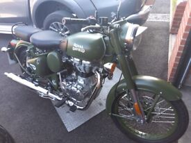 2021 Royal Enfield Classic 500 Military Battle Green Only 80 miles from new