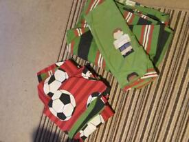Next Boys Football Bedding x2 Duvet Covers and Pillow Cases for a Single Standard Bed
