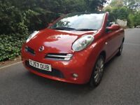 NISSAN MICRA (SPORT) CONVERTIBLE - 57-REG - 2007 (NEW SHAPE) 2 DOOR - 1.6 LITRE - £1695