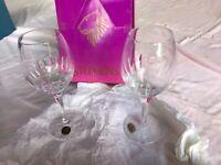 Boxed set of Stephens Full Lead Crystal Wine Glasses...Unused.
