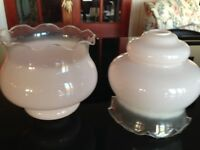 2 x Glass Lampshades