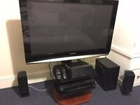 Panasonic 42 inch full HD TV with Home Theatre System OPEN TO OFFERS