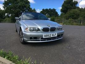 BMW 320ci convertible, silver, 2003