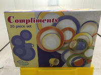 20 Piece Dinner Service Set (Multi Coloured)