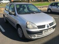 2005 RENAULT CLIO EXPRESSION 1.2 * IDEAL 1ST CAR * 3 DOOR * PETROL* * MOT * P/X * DELIVERY