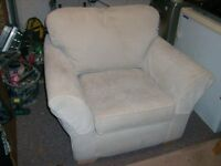 Multi York beige single sofa with arm covers and reversible seat and backrest
