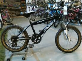 BOYS CONCEPT TERMINATOR BIKE 18 INCH WHEELS 6 SPEED FULL SUS GOOD CONDITION