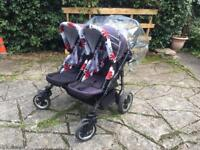 Freestyle Twins Double Buggy Pushchair Pram