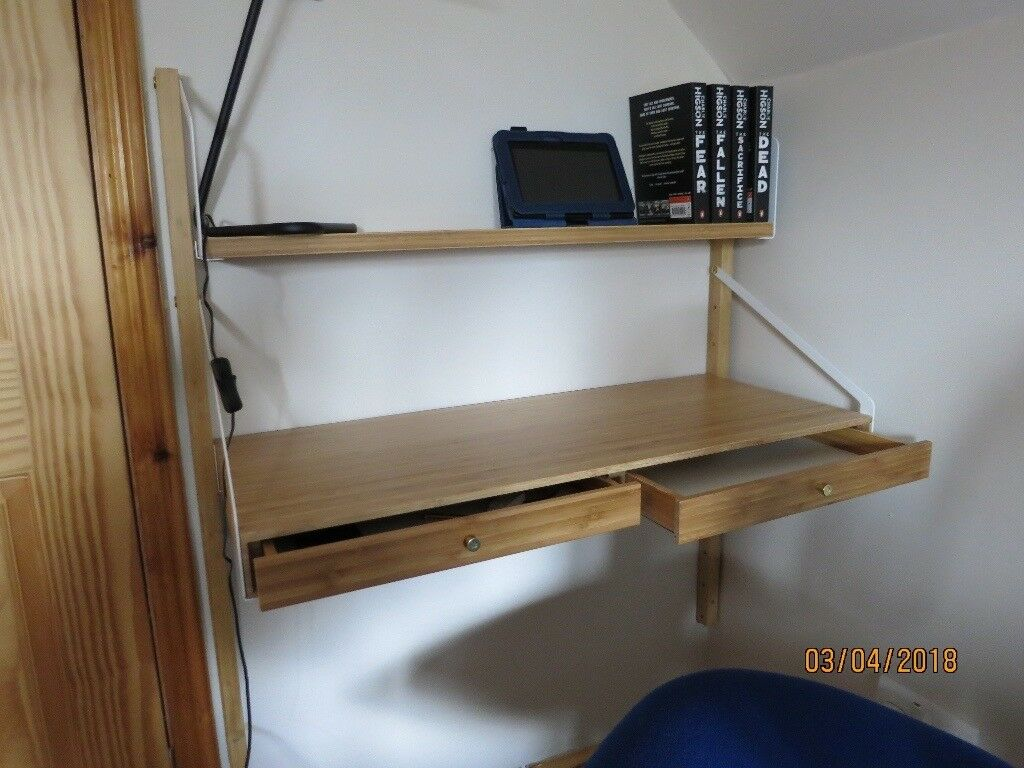 Ikea svalnas wall mounted workspace combination in purton