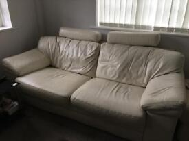 Leather 3 seater couch