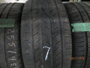 255/45R18 SINGLE ONLY USED CONTINENTAL A/S TIRE