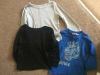 3 pairs of boys long sleeves shirts size 4-6