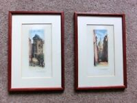 Two Retro / Vintage Paris Prints very unusual Width 8in/20cm Height 11.5in/29cm