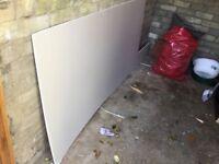 Spare plasterboard