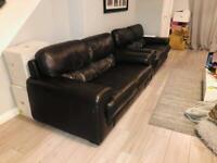 2 Dark chocolate sofa from sofology