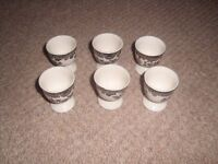 Palissy Game Series set of six Egg Cups in excellent condition.