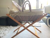 Moses basket with stand from mamas and papas