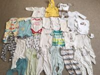 Large Bundle of Baby Clothes - 0-3 Mnths - Some Never Worn