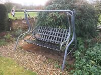 Metal Garden Swing - comes with cushions which need a little attention