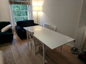 White dining room table (extendable)