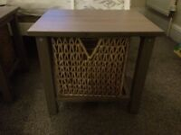 Pair of storage side tables with basket