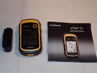 Garmin ETREX10 global gps for walking. BARGAIN AS USED ONCE ONLY! 2 months old. Guaranteed